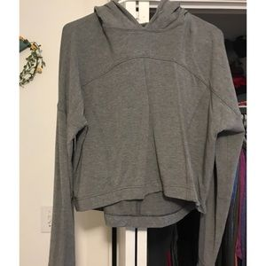 Cropped Lululemon gray sweatshirt